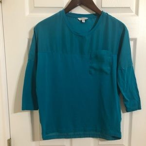 Pure By Alfred Sung Shirt Blue Xs